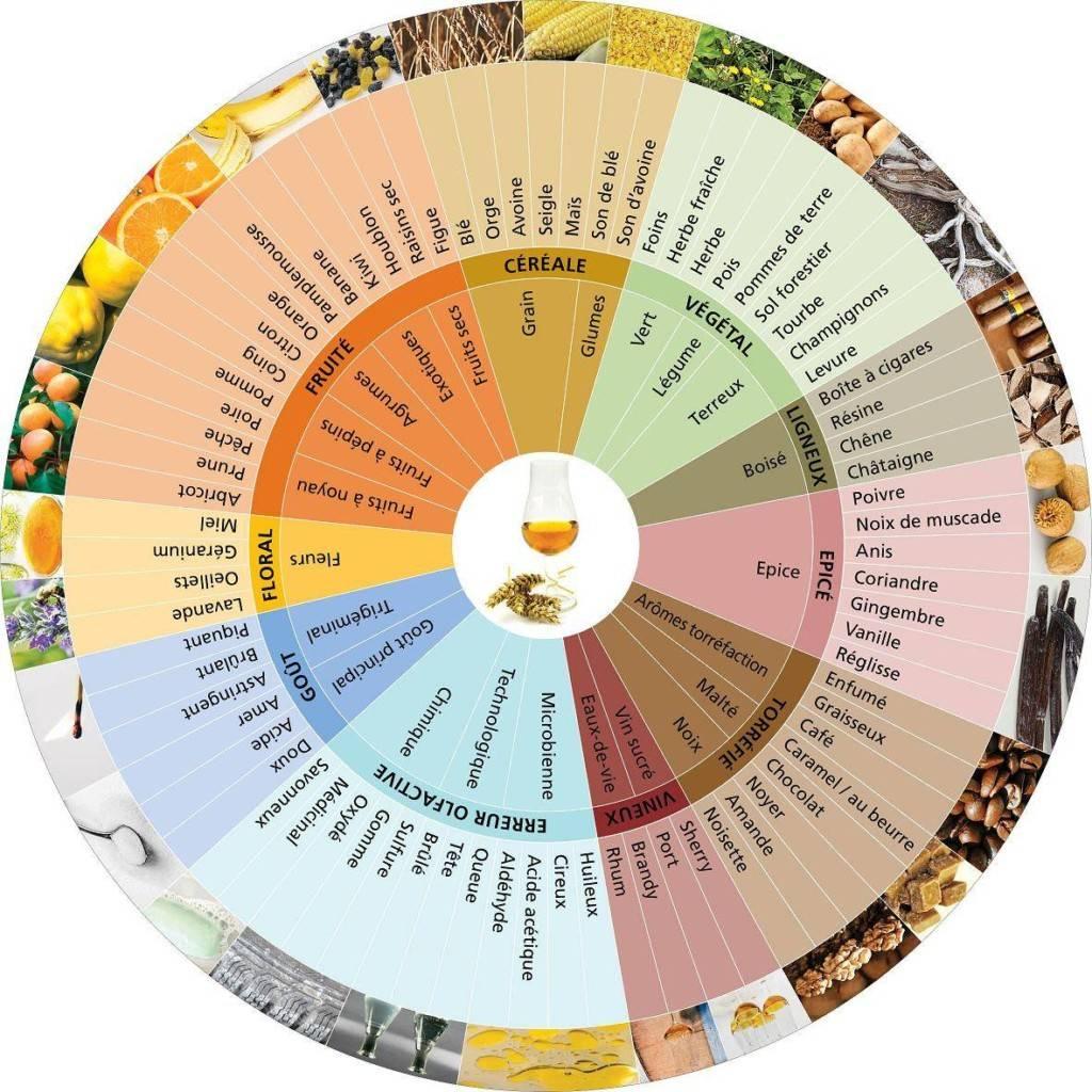 la roue des arômes