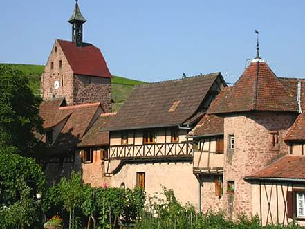 Riquewihr on the Alsace wine path