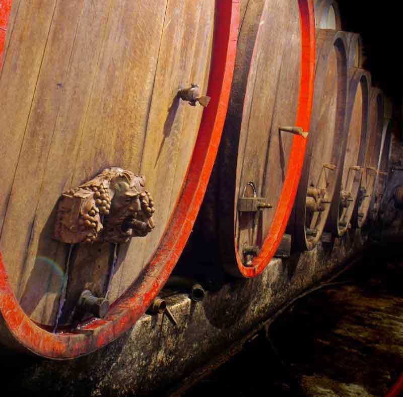 Cellar in an alsatian wine-estate