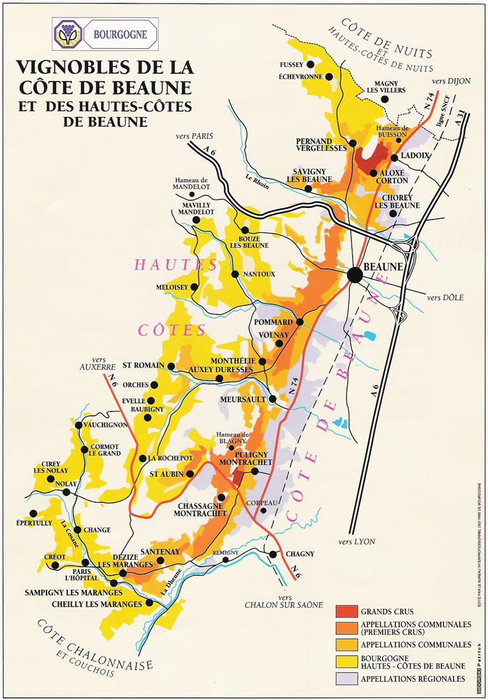 Carte Route Des Vins Bourgogne.Sur La Route Des Vins De Bourgogne A La Decouverte De La