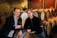 Winemakers in a Beaujolais estate
