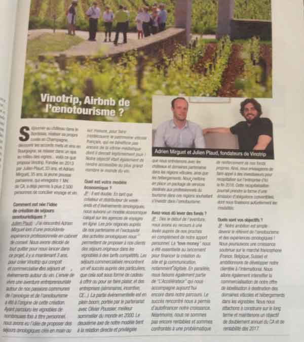Entreprendre - Press Vinotrip
