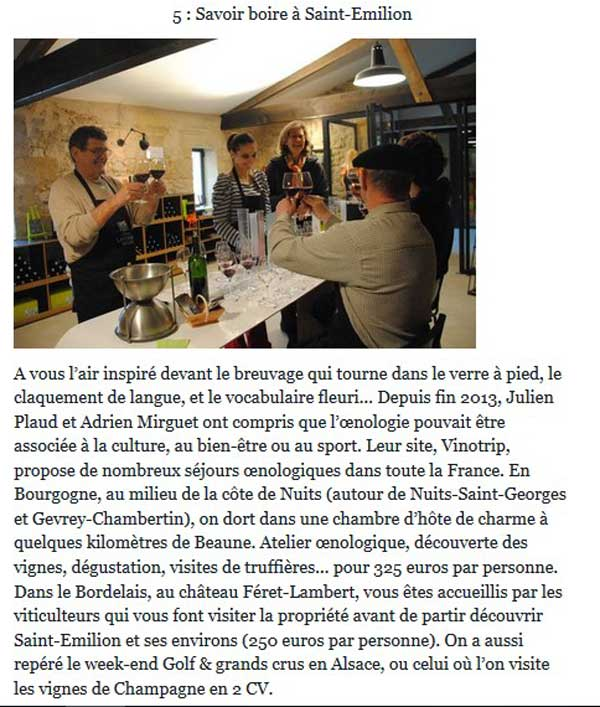 Le Monde - Press Vinotrip