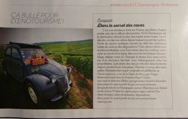 Paris Match - Press Vinotrip